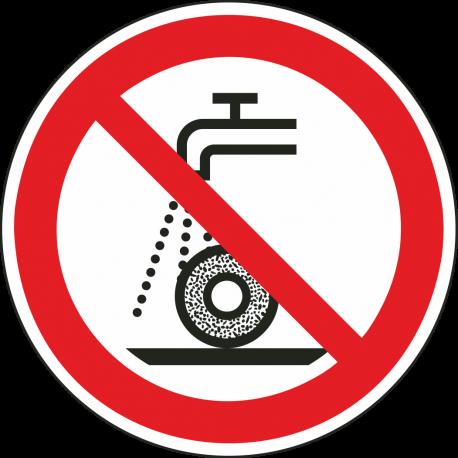Verboden nat te slijpen bordjes