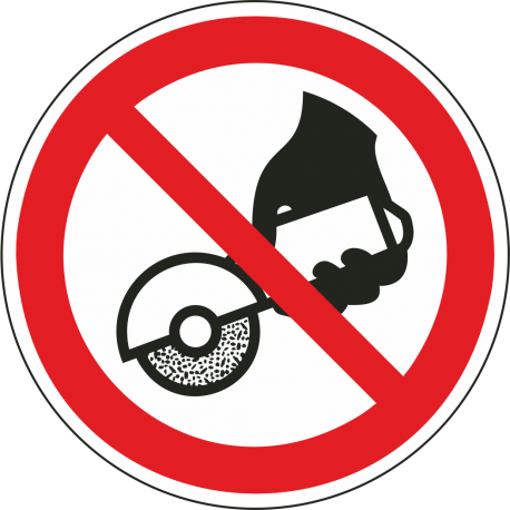 Verboden met de hand te slijpen bordjes