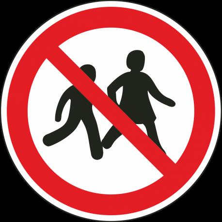 Verboden voor kinderen bordjes