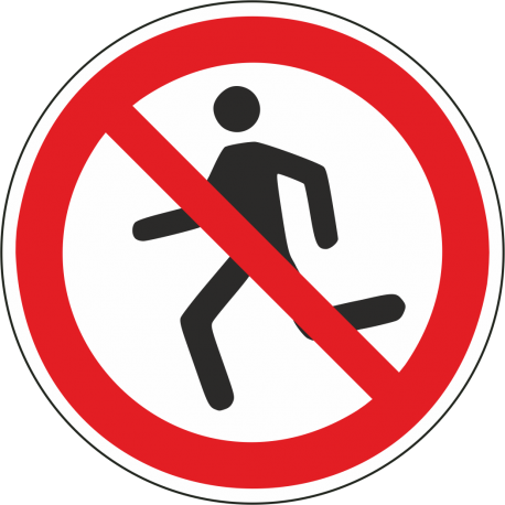 Verboden te rennen bordjes