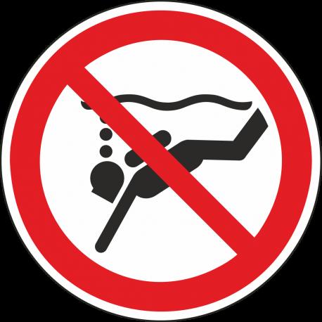 Verboden te diepzeeduiken bordjes