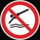 Verboden te duiken bordjes
