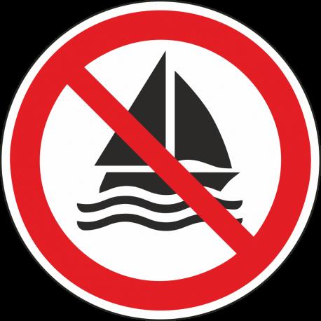 Verboden te zeilen bordjes