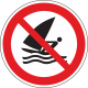 Verboden te windsurfen bordjes