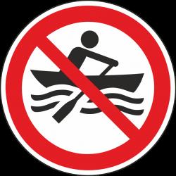 Verboden te roeien bordjes