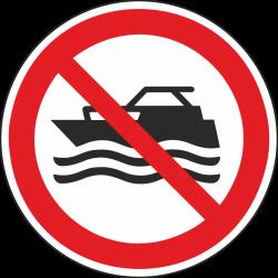Verboden te speedbootvaren bordjes
