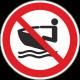 Verboden te waterscootervaren bordjes