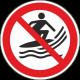 Verboden te surfen bordjes