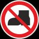 Verboden buitenschoenen te dragen bordjes