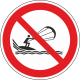 Verboden te kitesurfen bordjes