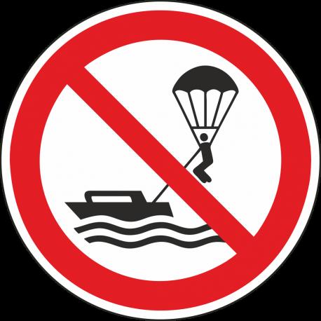 Verboden te parasailen bordjes