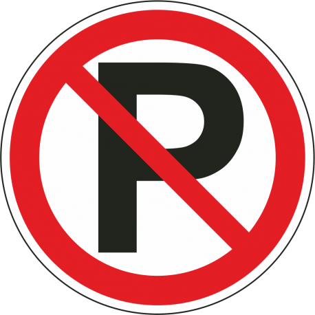 Niet parkeren bordjes