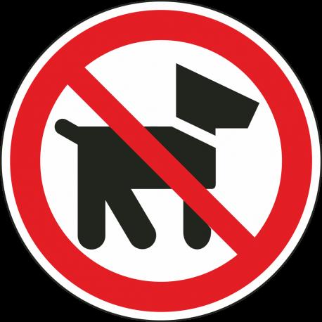 Verboden voor honden bordjes