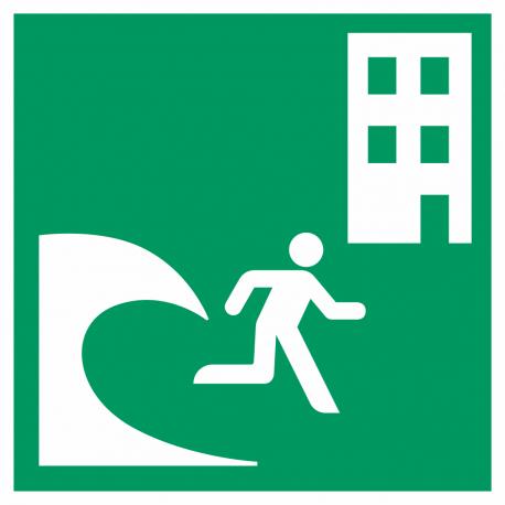 Tsunami evacuatiegebouw bordjes