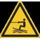 Gesleepte activiteiten in het water gebied bordjes