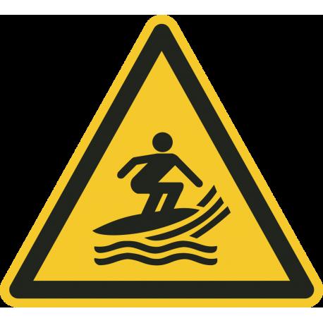 Watersurf gebied bordjes