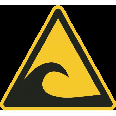 Tsunami gebied bordjes