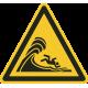 Hoge golven bordjes