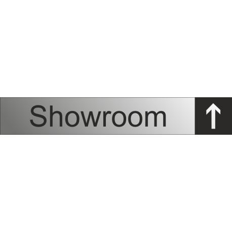 Showroom aanduidingsborden met pijl