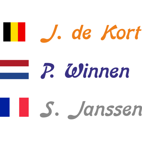 Fietsstickers met rechte vlag (Bon)