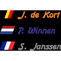 Fietsstickers met schuine vlag (Bon)