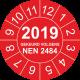 Keuringsstickers met NEN 2484 en jaartal (rood)