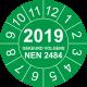 Keuringsstickers met NEN 2484 en jaartal (groen)