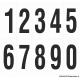 Cijfers 0-9, wit - zwart