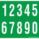 Cijfers 0-9, groen - wit