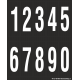 Cijfers 0-9, zwart - wit