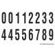 Cijfers 0-5 + 0-9, wit - zwart