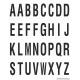 Alfabet letter stickers, wit - zwart