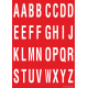 Alfabet letter stickers, rood - wit