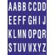 Alfabet letter stickers, blauw - wit