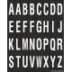 Alfabet letter stickers, zwart - wit