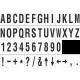 Losse alfabet en cijfer stickers, wit - zwart