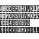 Alfabet en cijfer stickers, zwart - wit