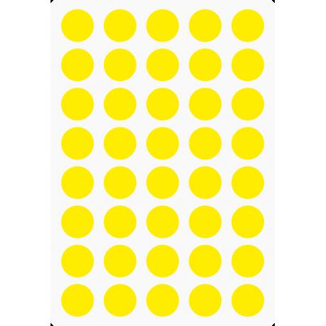Markeringsstickers rond 15 mm op vel (40 stuks)