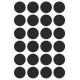 Markeringsstickers rond 25 mm op vel (24 stuks)