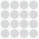 Markeringsstickers rond 30 mm op vel (16 stuks)