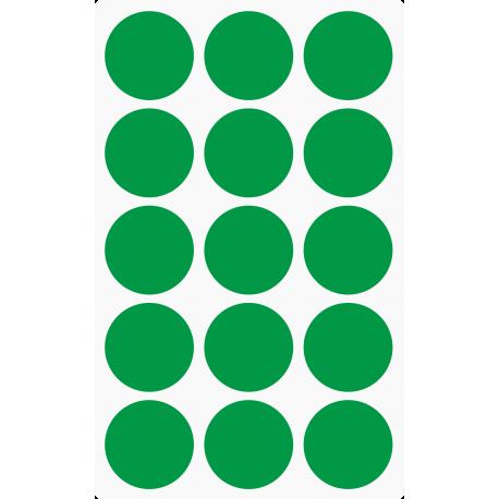 Markeringsstickers rond 35 mm op vel (15 stuks)