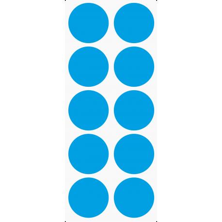 Markeringsstickers rond 50 mm op vel (10 stuks)