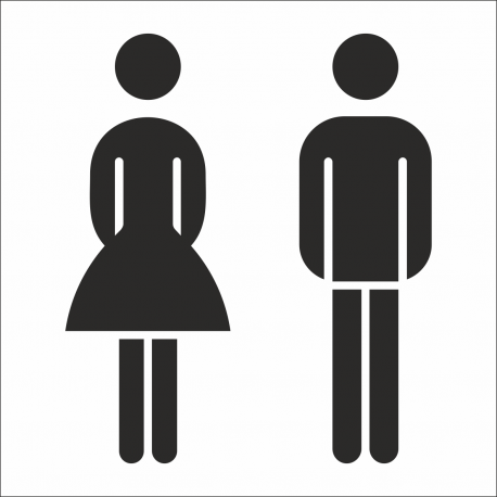 Gezamenlijke toilet stickers (met achtergrond)