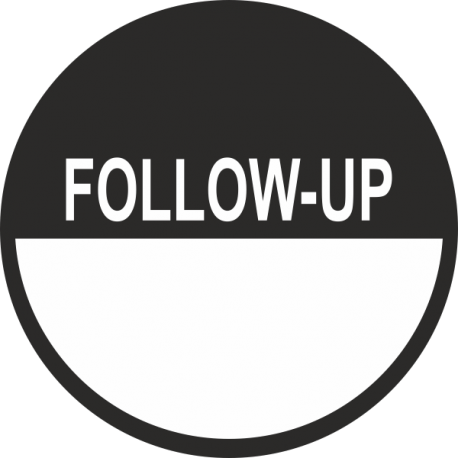 Follow-up keuringsstickers beschrijfbaar