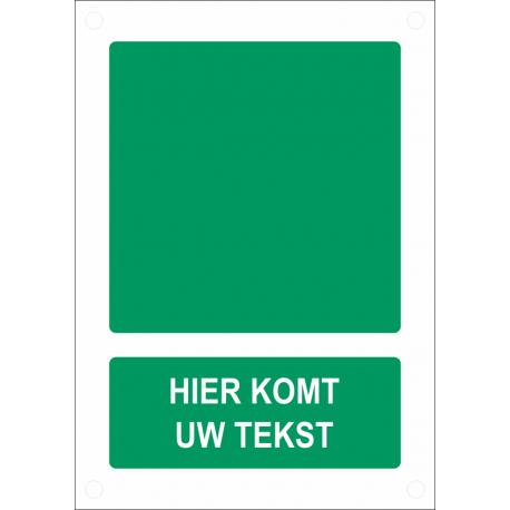 Gepersonaliseerde veiligheidsborden (verticaal model)