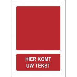 Gepersonaliseerde brandveiligheidsborden (verticaal model)