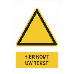 Gepersonaliseerde waarschuwingsborden (verticaal model)