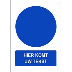 Gepersonaliseerde gebodsborden (verticaal model)