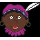 Zwarte piet met paarse muts raamsticker