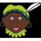 Zwarte piet met groene muts raamsticker